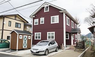 山形の輸入住宅の外観
